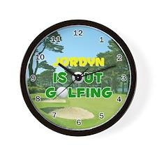 Jordyn is Out Golfing - Wall Clock