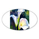 calla lilly art deco flower print Sticker