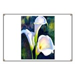 calla lilly art deco flower print Banner
