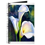 calla lilly art deco flower print Journal