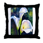 calla lilly art deco flower print Throw Pillow