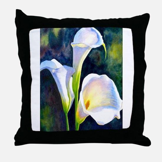 calla lilly art deco flower print Throw Pillow