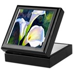calla lilly art deco flower print Keepsake Box