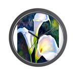 calla lilly art deco flower print Wall Clock