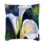 calla lilly art deco flower print Woven Throw Pill