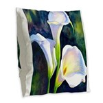 calla lilly art deco flower print Burlap Throw Pil