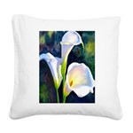 calla lilly art deco flower print Square Canvas Pi