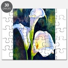 calla lilly art deco flower print Puzzle