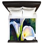 calla lilly art deco flower print King Duvet