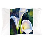 calla lilly art deco flower print Pillow Case