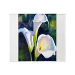 calla lilly art deco flower print Throw Blanket