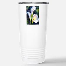 calla lilly art deco flower print Travel Mug