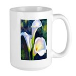 calla lilly art deco flower print Mugs