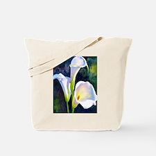 calla lilly art deco flower print Tote Bag