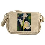 calla lilly art deco flower print Messenger Bag