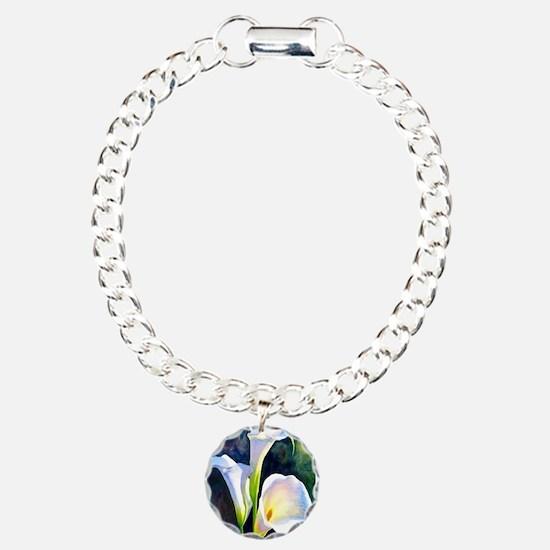 calla lilly art deco flower print Bracelet