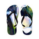 calla lilly art deco flower print Flip Flops