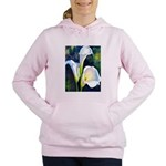 calla lilly art deco flower print Women's Hooded S