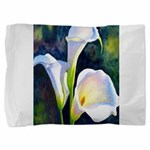 calla lilly art deco flower print Pillow Sham