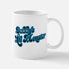 Inspiration Text - Daddy's Little Monster Blu Mugs