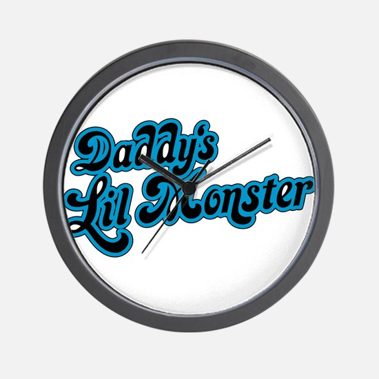 Inspiration Text - Daddy's Little Monst Wall Clock