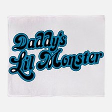 Inspiration Text - Daddy's Little Mo Throw Blanket