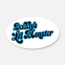 Inspiration Text - Daddy's Little Oval Car Magnet