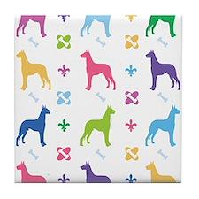 Great Dane Designer Tile Coaster