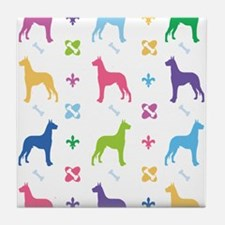 Great Dane Designer Tile Coaster