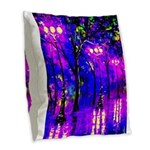 After The Rain Burlap Throw Pillow