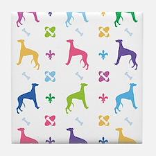 Greyhound Designer Tile Coaster
