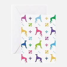 Greyhound Designer Greeting Card