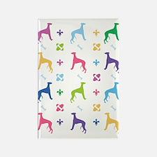 Greyhound Designer Rectangle Magnet
