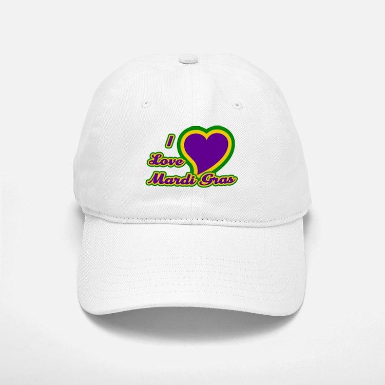 I Love Mardi Gras Baseball Baseball Cap