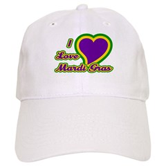 I Love Mardi Gras Baseball Cap