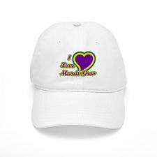 I Love Mardi Gras Cap