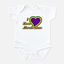 I Love Mardi Gras Infant Bodysuit