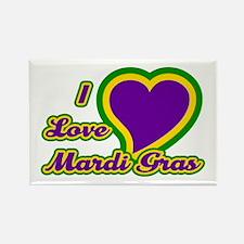 I Love Mardi Gras Rectangle Magnet (10 pack)