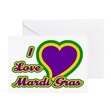 I Love Mardi Gras Greeting Card