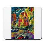 Grand Prix Auto Race Painting Print Mousepad