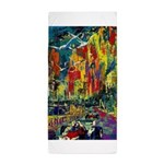 Grand Prix Auto Race Painting Print Beach Towel