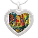 Grand Prix Auto Race Painting Print Necklaces
