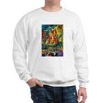 Grand Prix Auto Race Painting Print Sweater