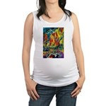 Grand Prix Auto Race Painting Print Maternity Tank
