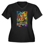 Grand Prix Auto Race Painting Print Plus Size T-Sh