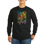 Grand Prix Auto Race Painting Print Long Sleeve T-