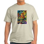 Grand Prix Auto Race Painting Print T-Shirt