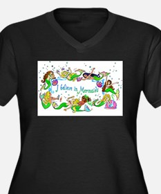 I Believe In Mermaids Plus Size T-Shirt