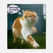 Funny Grumpy cat Throw Blanket