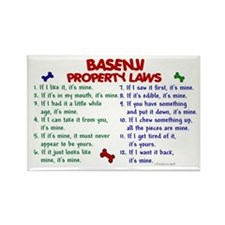 Basenji Property Laws 2 Rectangle Magnet